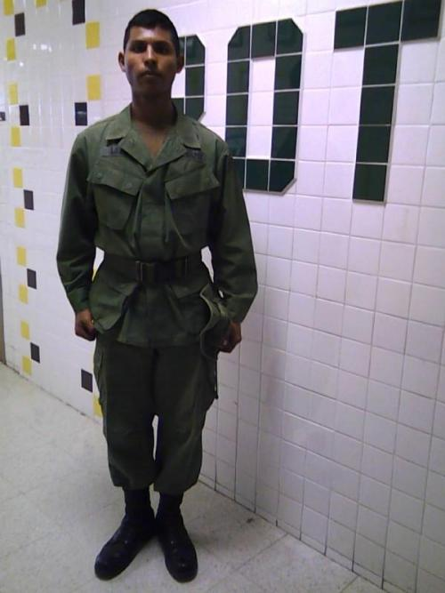 Me in the Jungle uniform used in Vietnam.