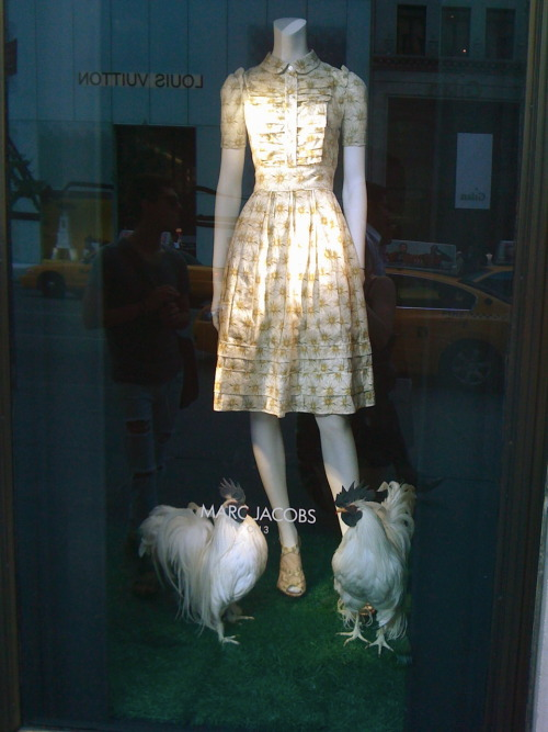 fakingfashion:  Marc by Marc: we touched this dress on the 3nd floor  !!  haha love this window display for so many reasons.