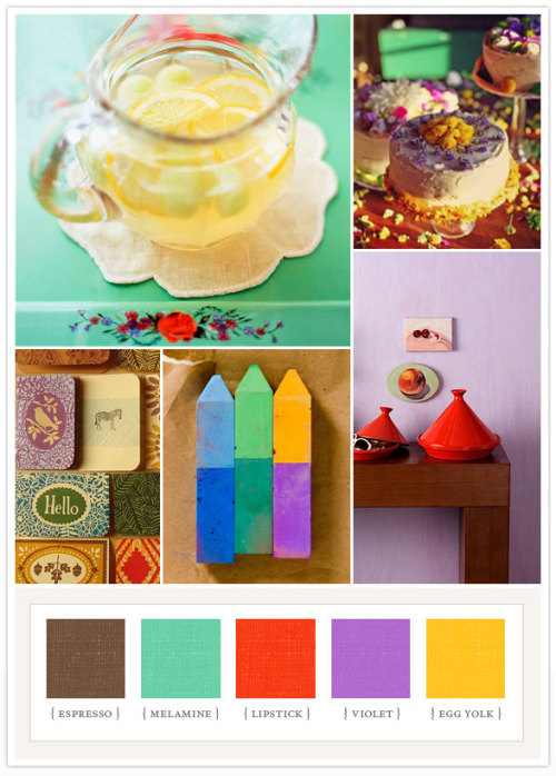 Inspired by this Primary-bright colourboard.