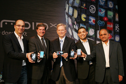 """Execs from VZW, Google, Motorola, Adobe show off America's hot new smartphone."""