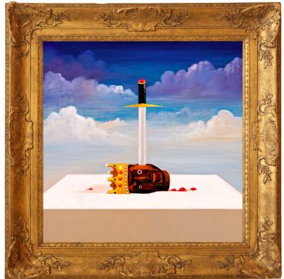 Paintings by George Condo for Kanye's new single: Power via Kanye's blog.