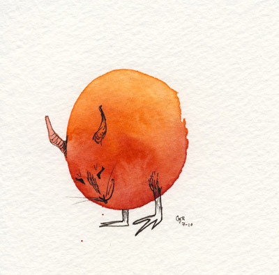 In my shop is a… Round Orange Monster! EDIT: Sold!