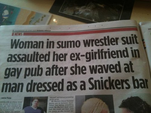 Could this be the best newspaper headline ever? Ever in all of existence?