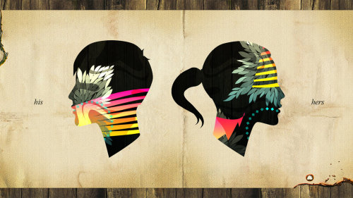 weandthecolor:  His and Hers by aharmon http://aharmon.deviantart.com/gallery/#/d2tebym