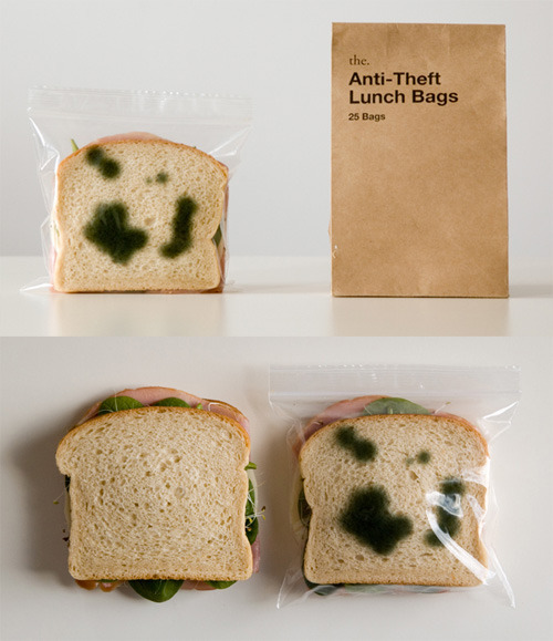anti-theft lunch bags…  what a great idea! theonlymagicleftisart