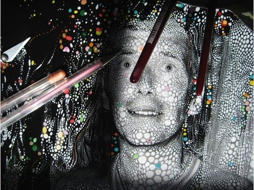 yayeveryday:  Thousands of Dots on Photographs