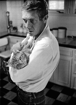 steve mcqueen and the 1000th almost famous cat puszi!