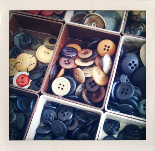 buttons from a swap meet in berlin.