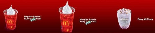 Must Try!!! Sweet Chills from McD! Rockin' Ruby and Berry McFlurry!