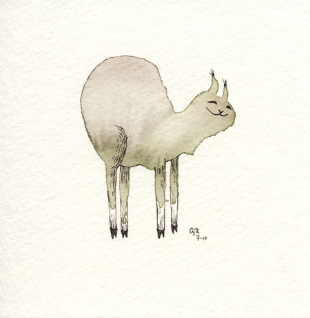 This one has a big bum, I guess?  One of my mini paintings!