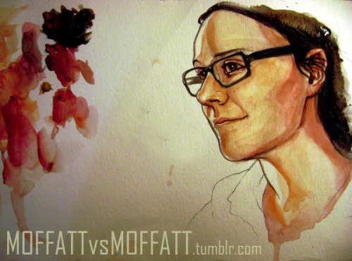 art school vs. old school portraits by two sisters - cast your votes peeps! moffattvsmoffatt:  SUBMISSION; SM: SELF PORTRAITwatercolours.