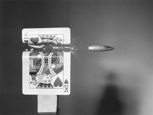 Harold Edgerton Cutting the Card Quickly (King) 1964