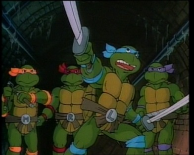 Michelangelo, Raphael, Leonardo, and Donatello  (thx @martinimiks)