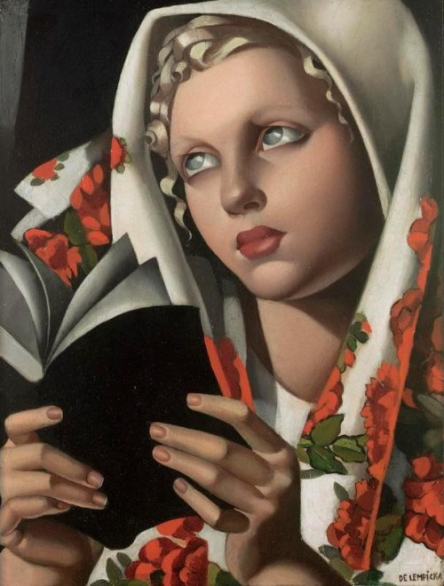 womenreading:  Polish Girl by Tamara de Lempicka
