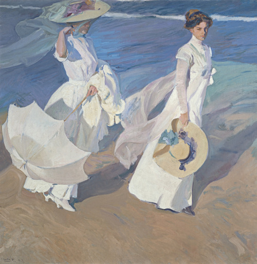 nickelcobalt:  alabaster1:  graindebeaute:  SOROLLA Joaquin Promenade by the Sea 1909