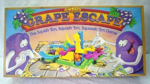 definitely the most violent board game I've ever seen… stomping, squishing, cutting off their heads.  the poor little grapes.  it's similar to SPLAT, but to the extreme. lol   but anyhow, I still loved this game.