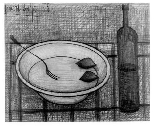Bernard Buffet Bowl and Bottle 1955