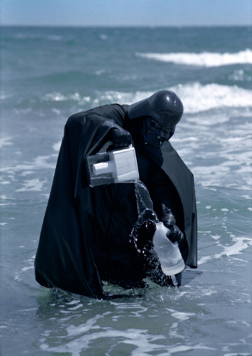 paddyjohnson:  Daniel Bozhkov Darth Vader Tries to Clean the Black Sea With Brita Filter2000C-print mounted on aluminum, Ed. of 550 X 35 1/2 inches