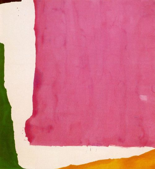 Helen  Frankenthaler Mauve  District1966.  Synthetic polymer paint on canvas. 261.5 x 241.2 cm.