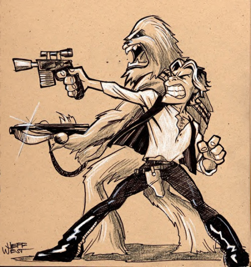 gamefreaksnz:  dbsw:  Han and Chewie // by Jeff West