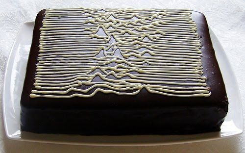 Joy Division's Unknown Pleasures as a cake. Food. Music. Science. Pretty much my personal trifecta.