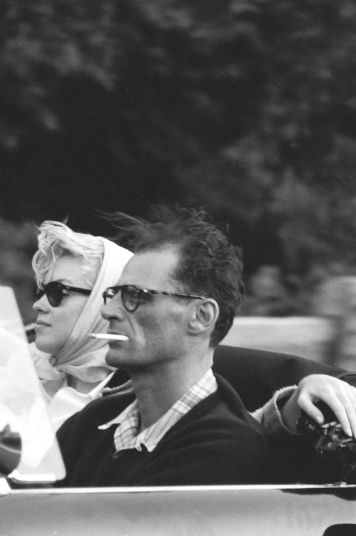 tumbling-dice:  suicideblonde:  Marilyn Monroe and Arthur Miller in 1956