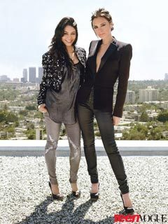 "Victoria Beckham Customizes Jeans for Vanessa Hudgens in Teen Vogue When it comes to looking sexy, Victoria Beckham chalks it up to good jeans. ""Fit is very, very important,"" the Spice Girl turned denim (and dress) designer tells the August issue of Teen Vogue. ""You want a jean that is superflattering but also relatively practical. You need to be able to move around in it. When I wear a skinny jean"" — and really, for Beckham, is there any other kind? —""I like it to have a little bag around the knee and the ankle. It's more modern than something that is tight, tight, tight.""  Full story on StyleList after the jump. [Blue jean babes: Vanessa Hudgens and Victoria Beckham show how denim is done in the current issue of Teen Vogue.]"