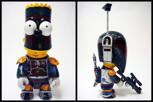 "Jared Cain (@NikeJerk) brings together The Simpsons and Star Wars in his latest custom creation. ""Don't have a Bantha man!"" - Barta Barta Fett by Jared Cain / Nikejerk (Twitter)"