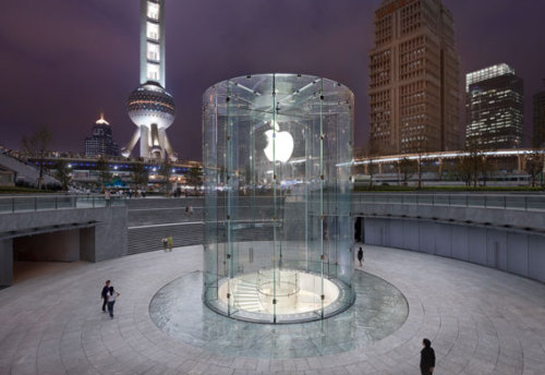 New Apple store opens in Shanghai. Check out more photos by Roy Zipstein