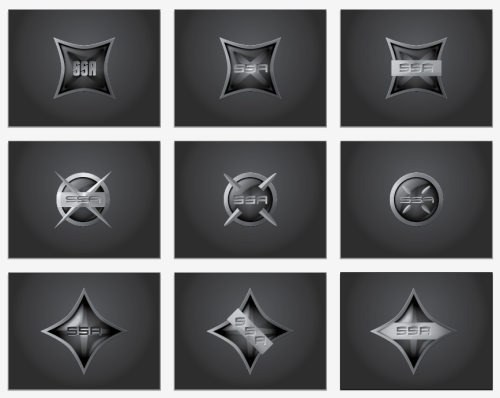 WHAT I DID TODAY: busted out 9 logo roughs. :shwing: