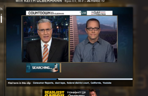 Talking some iPhone 4 antenna issues on Countdown with Keith Olbermann on MSNBC.