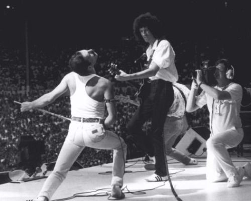 Queen at Live Aid, July 13rd 1985
