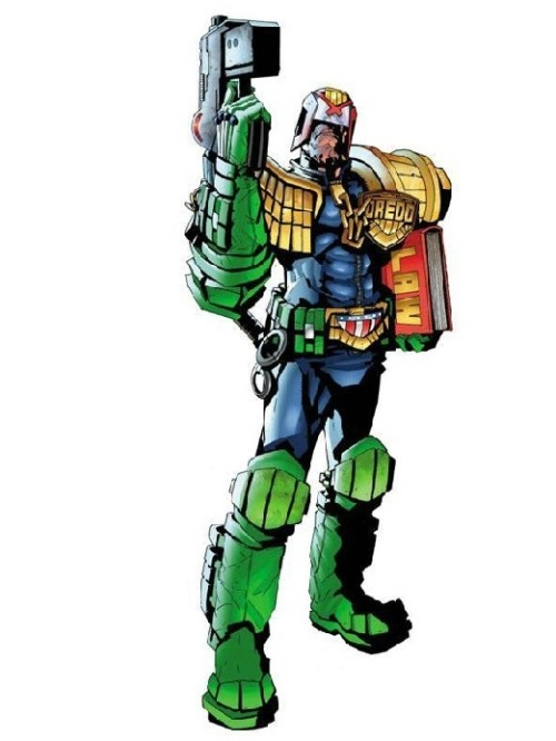 Next project - commenced July 2010 - a JUDGE DREDD costume - based on the character from the long-running British comic 2000ad.  art: Jock
