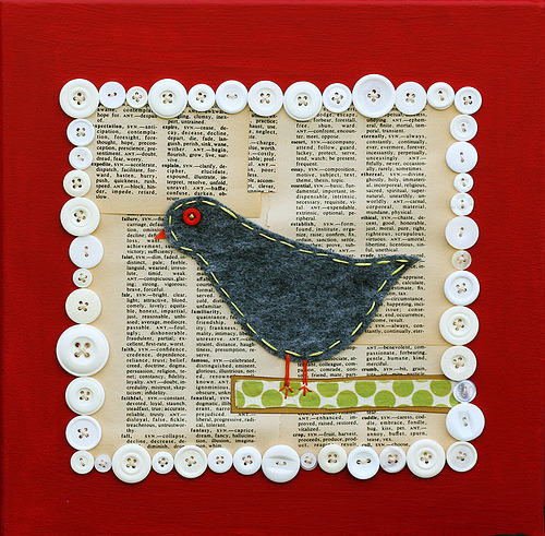 thoughtful*bird collage (by .elsie*cake.)