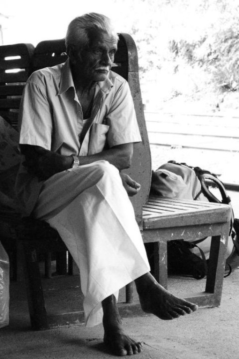 """Waiting game. (Ella, Sri Lanka) """"Slowly, slowly"""" is an understatement. The train was 2 hours late, then took 8 hours to travel 163km from Ella to Kandy. Even the locals were getting antsy."""