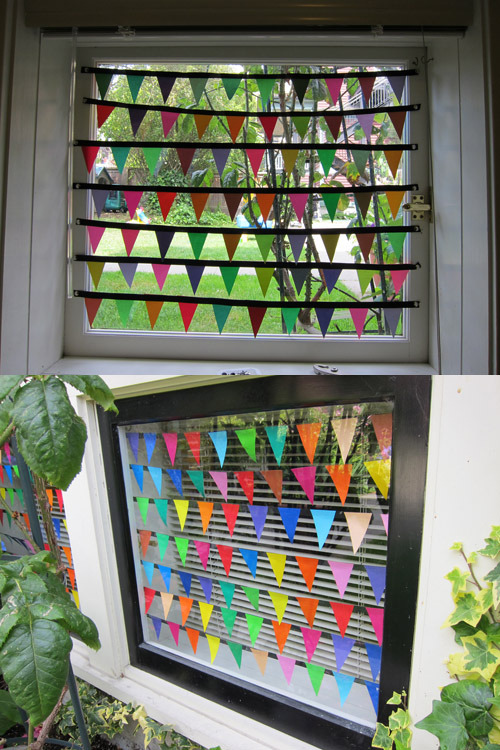 timevsmoney:  Paper Window Bunting