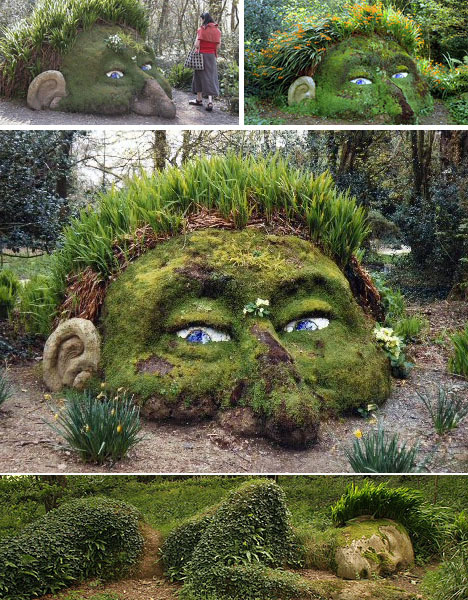 Land Art!  This is from the once Lost Gardens of Heligan in the United Kingdom.