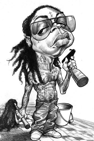 A drawing of Lil Wayne that I thought was pretty cool.