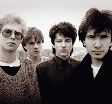 Rock band U2 in 1980