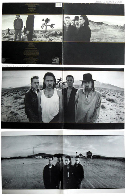 "The Joshua Tree is the fifth studio album by rock band U2, released on March 9, 1987 on Island Records.The album is dedicated to lead singer Bono's assistant, Greg Carroll, who was killed in a motorcycle accident during the album's recording.The Joshua Tree that was featured in photographs and as a logo in the album's artwork, the initial concept for the sleve was to represent where the desert met civilization. Corbijn told the band about Joshua trees, hardy and twisted plants in the deserts of the American Southwest, and he suggested their use on the sleve. Bono consulted the Bible and was pleased to discover the religious signicance of the plant's etymology, according to Mormon legend, early settlers referred to the Joshua Tree as ""the praying plant"" and said that its branches represented the Old Testament prophet Joshua raising his hands in prayer. The following day, Bono declared that the album should be titled ""The Joshua Tree""."