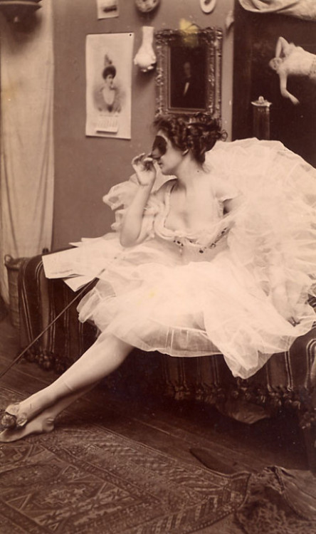 billyjane:Masked Ballerina, c. 1880 Albumen Print from Kingston Collection