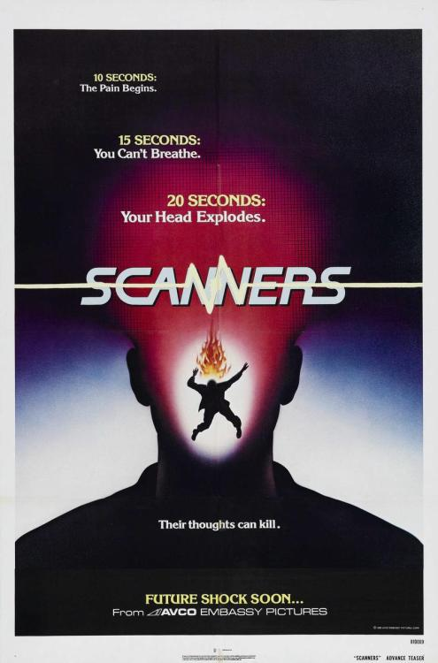 funrunrecords:  monstermadeofeyes: monsterman: Scanners (1981)