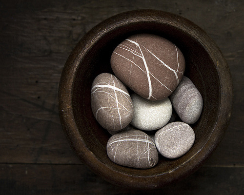 pebbles in a wooden bowl (by sue.h)