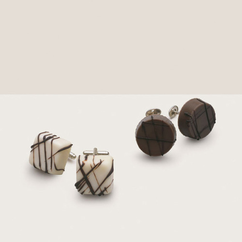 "When fashion meets food. Delectable earrings and cuff links… ""A Matter of Taste"" via Beautiful Life"
