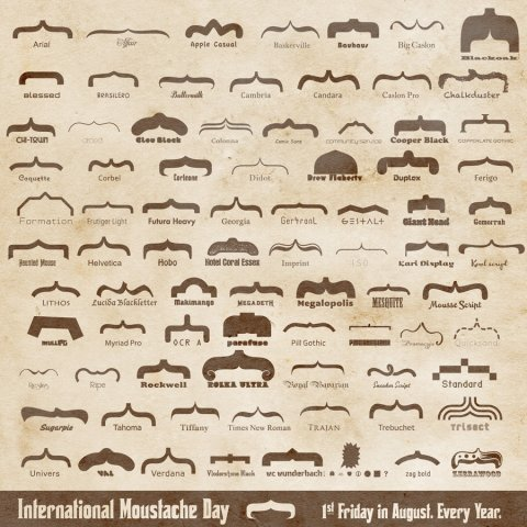 poetinthenight:  9gag:  International Moustache Day