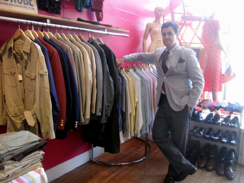 Giuseppe, charming at always while presiding over his An Affordable Wardrobe In Person day in Boston.
