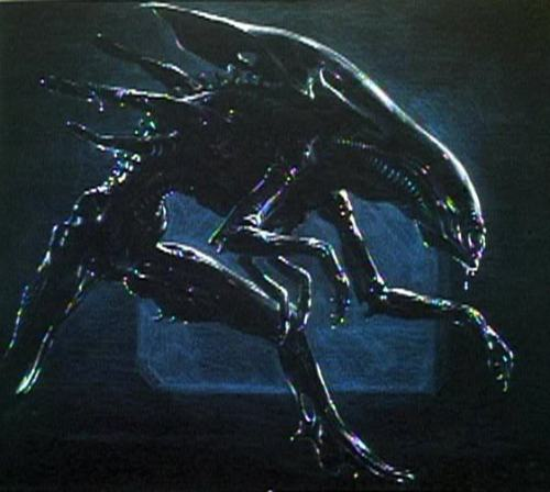 Concept art for James Cameron's alien queen via photobucket.com