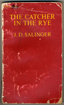 apostrophe9:  timespent:  booklover:  coverspy:  The Catcher in the Rye, J.D. Salinger (F, 30s, short dark hair, white Macbook, Outpost Cafe, Clinton Hill) http://bit.ly/a07Z44