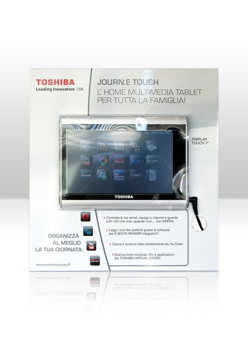 Toshiba Journ.e Touch POP materialArt Direction Creative Room Client Toshiba Italia