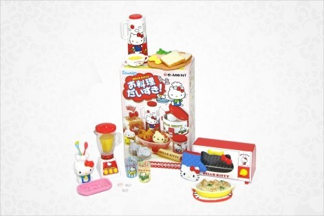 Hello Kitty Blind Box Mini Figurines: I Love Cooking